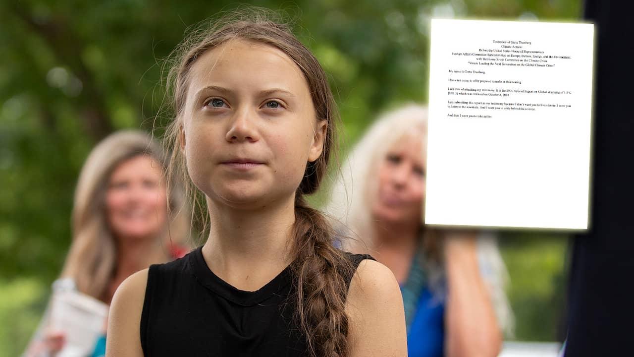 """Greta i kongressen: """"Lyssna på forskarna"""""""