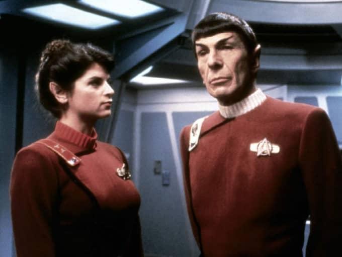 """Science fiction-serien med karaktärerna Captain Krik och Spock i spetsen på rymdskeppet Enterprise har gett upphov till flera uppföljare, bland annat """"The next generation"""" och """"Deep space nine""""."""