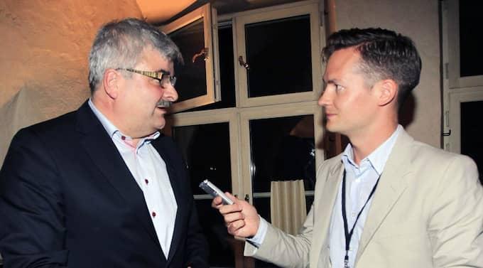 Expressen fick sent i går kväll en exklusiv intervju med Juholt på Hotell Wisby efter att han anlänt med färjan från Oskarshamn. Foto: Cornelia Nordström