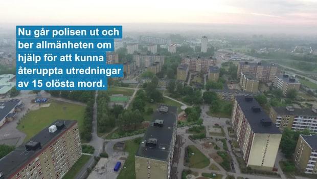 Femton olösta brottsfall från Sydsverige