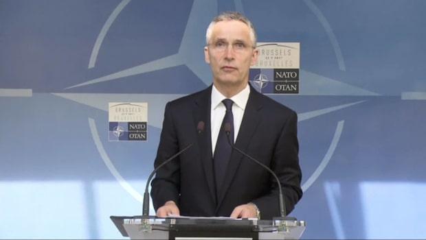 Stoltenberg inför mötet med Nato