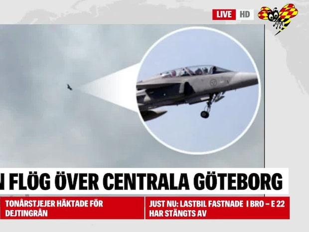 Därför flög ett JAS-plan över Göteborg