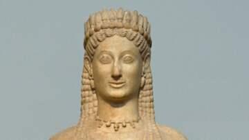 GAMMAL SORG. Phrasikleia, Ariston från Paros, cirka 550 före vår tideräkning. Foto: Wikimedia Commons