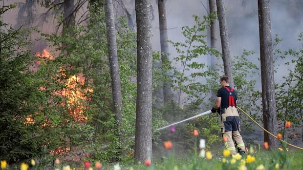 Flera bränder runtom i Stockholmsområdet