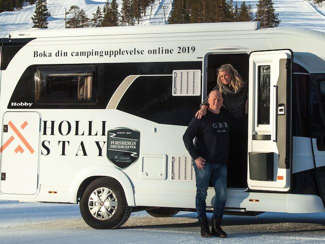 """""""Vi vill göra det enkelt för campare att hitta campingplatser"""", säger Malin som startar sajten tillsammans med Lars."""