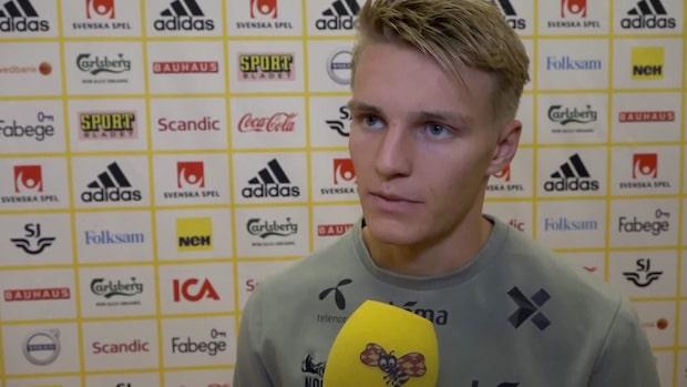 """Odegaard: """"Besvikelse att inte ta tre poäng"""""""