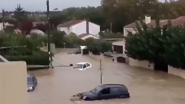 Minst 13 personer döda i översvämning i Frankrike