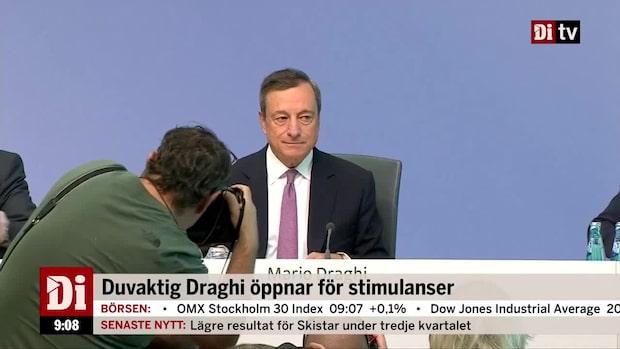 Munkhammar: ECB kan agera redan nästa månad