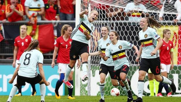 Belgien chockade Norge i EM