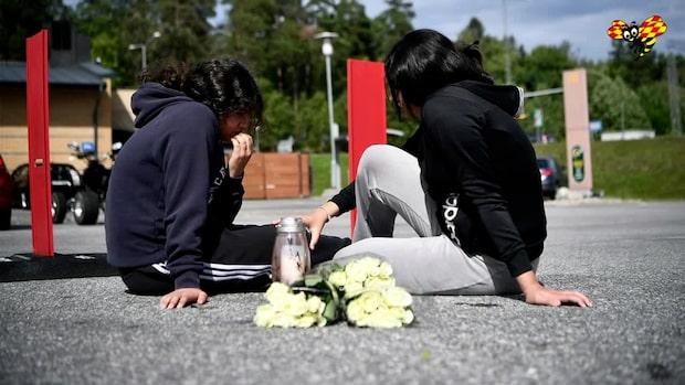 Flickans kompisar efter skjutningen – stor sorg