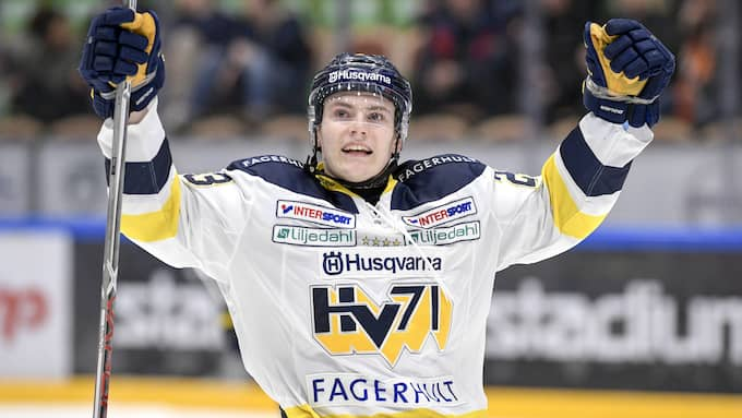 Andersson var med och tog SM-guld med HV 71. Foto: MAGNUS LEJHALL / BILDBYRÅN
