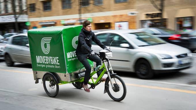 Jeppe D Larsen är vd för cykelåkeriet Move by Bike som bland annat levererar mat till skolor och förskolor i Stockholm. Foto: Jan-Ake Eriksson www.jan-ake.se
