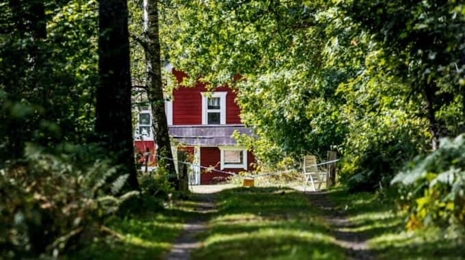 Sommarstugan där mordet och mordförsöket skedde. Foto: Alex Ljungdahl/Expressen