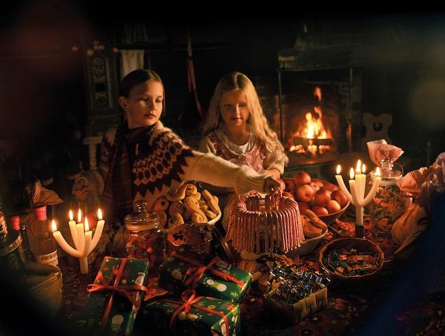 Gammal god julstämning på Skansen.