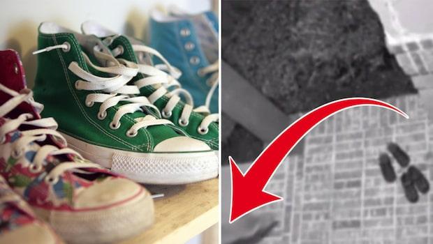 Familjens skor försvinner – här fångas tjuven på film