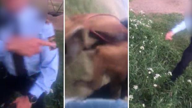 """Här bussar polisen hunden på mannen: """"Aj vad fan"""""""