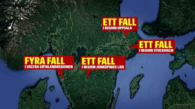 Fem nya fall av corona i Sverige