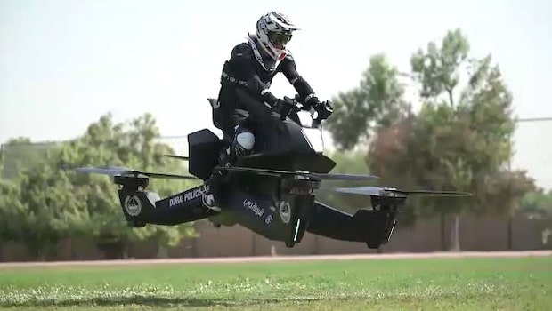 Dubaipolisens nya teknik - svävande motorcyklar