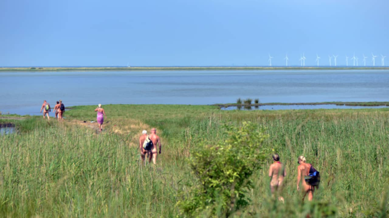 ålandsbåtarna naken på stranden