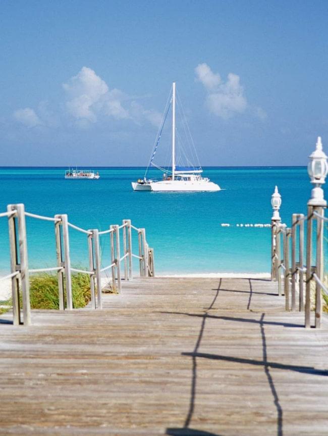 Grace Bay, Providenciales, Turks- och Caicosöarna.