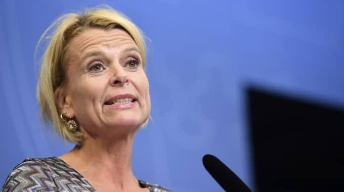 Sverige får en ny jämställdhetsmyndighet, presenterade Åsa Regnér på en pressträff i dag. Foto: Fredrik Sandberg/Tt / TT NYHETSBYRÅN