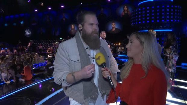 Chris Kläfford efter fredagens Idolfinal