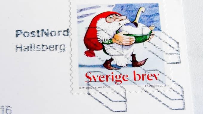 Nästa år höjs priset på frimärken. Foto: HENRIK ISAKSSON/IBL / /IBL
