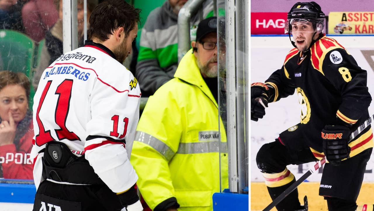Aaron Palushaj missar matchen mot Brynäs efter skadan