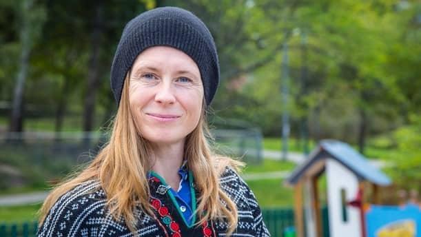 """Micaela Gustafsson står bakom """"Bebispodden"""" i Sveriges Radio. Foto: Micke Grönberg."""
