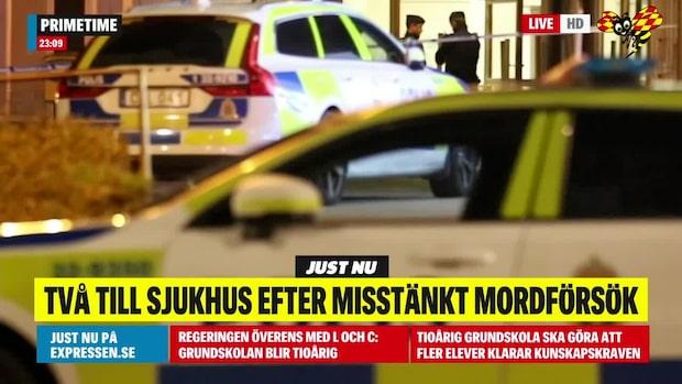 Två till sjukhus efter misstänkt mordförsök