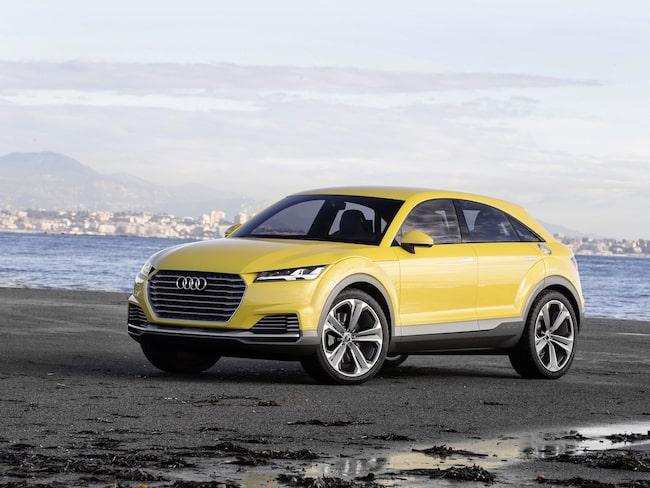 Audi visade en komceptbil baserad på lilla TT för tre år sedan. Nu får den bilen stå modell för nya Q4.