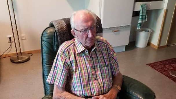 Göran Klintmyr, 91, får enligt ett besked inte längre bo kvar på äldreboendet har nyligen flyttat in på. Foto: Privat