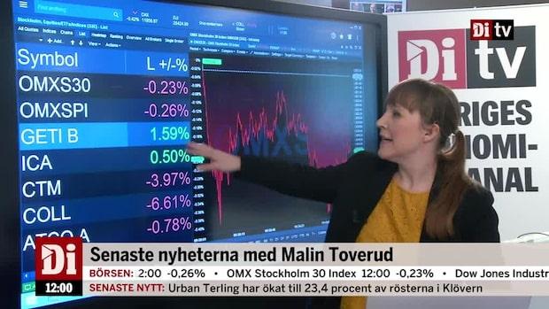 Nyheter 12.00: Getinge toppar storbolagsindex