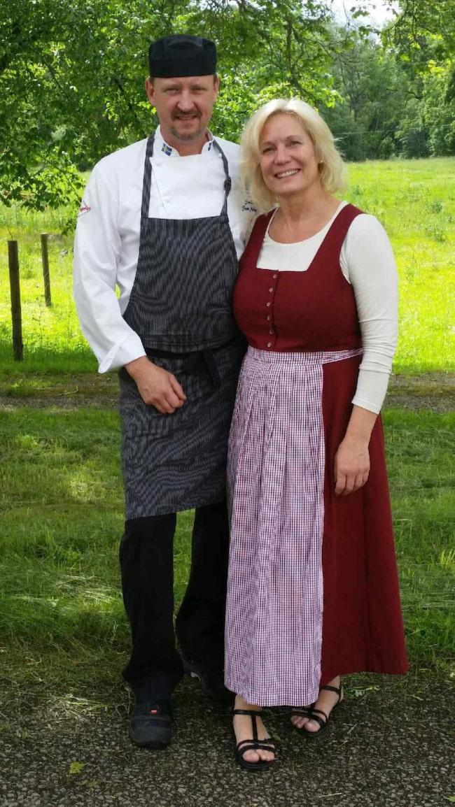 Sune och Mia Markmann på Grimsnäs Herrgård.