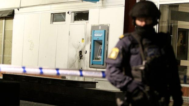 Explosion vid bankomat i Jönköping