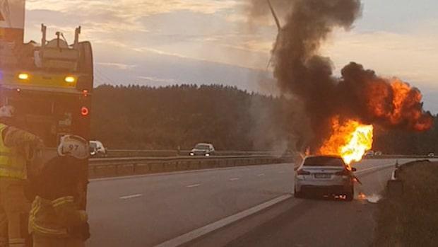 Sleimanes bil började brinna – BMW vill inte utreda varför