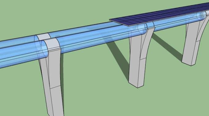 SÅ FUNGERAR HYPERLOOPEN. Hyperloop är ett koncept för ett färdmedel för människor och varor. Foto: Wikipedia