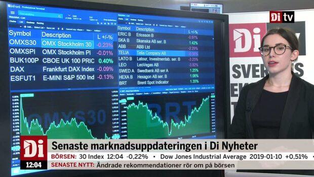 Di Nyheter: Börsen vänder ner efter uppgifter om regering