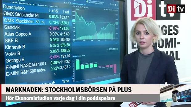 Marknaden: Stockholmsbörsen på plus