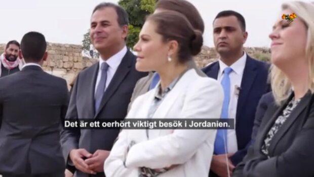 """Kronprinsessan Victoria på plats i Amman: """"Viktigt besök"""""""