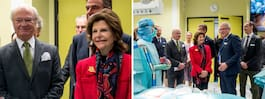Kungaparets besök på skandalsjukhuset