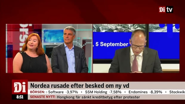"""Jönsson om Nordeas nya vd: """"Precis det marknaden vill höra"""""""