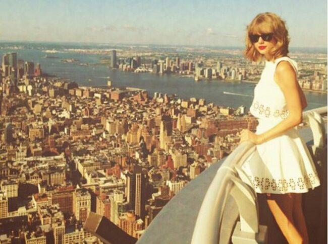 <span>Kändisar som Taylor Swift kan få komma upp på balkongen.</span>