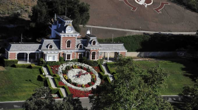 Michael Jacksons stora lyxhus Neverland. Foto: Chris Carlson / AP