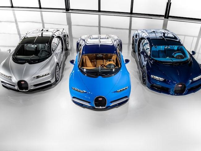Dyrast blir det för den som köper en Bugatti Chiron.