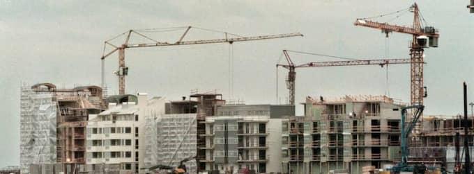 Västra hamnen i uppbyggnadsskedet 2001 Foto: Christer Wahlgren