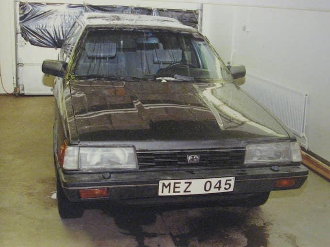 Ricard Nilssons grå Subaru undersöktes grundligt utan att polisen kunde hitta något bevis på att Nilsson hade med Lelle Hildebrands försvinnande att göra. Foto: POLISEN