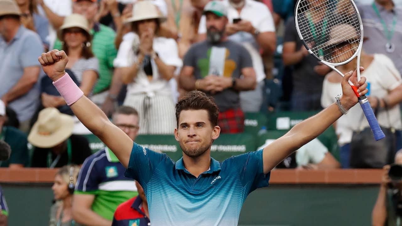 new styles b209c 944dd Dominic Thiem vann Indian Wells 2019 - finalslog Roger Federer
