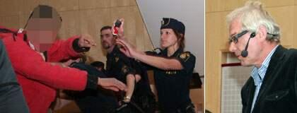 Lars Vilks överfölls på under en föreläsning på Uppsala universitet. Foto: Gusten Holm/Ergo