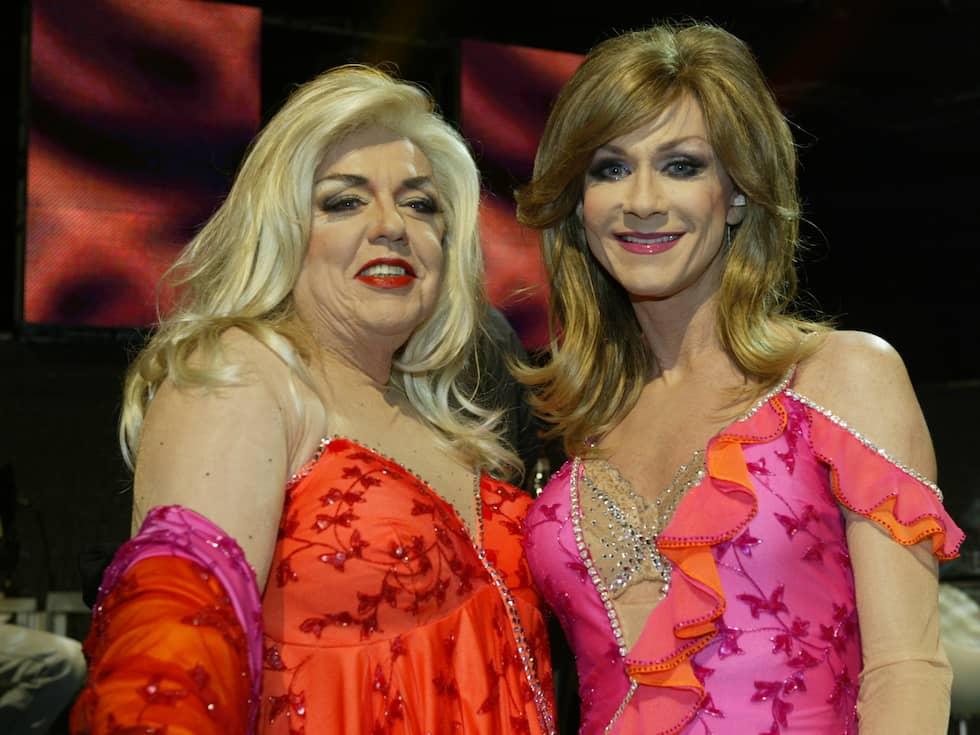 "Lasse Flinckman och Christer Lindarw gjorde succé i Melodifestivalen 2004 med låten ""La Dolce Vita"". Foto: GUGGE ZELANDER"